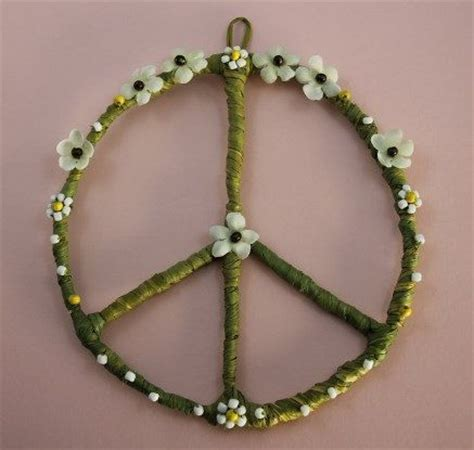 peace sign decorations for bedrooms hippy and boho style peace sign wall home decor college decor dorm room decoration hand made