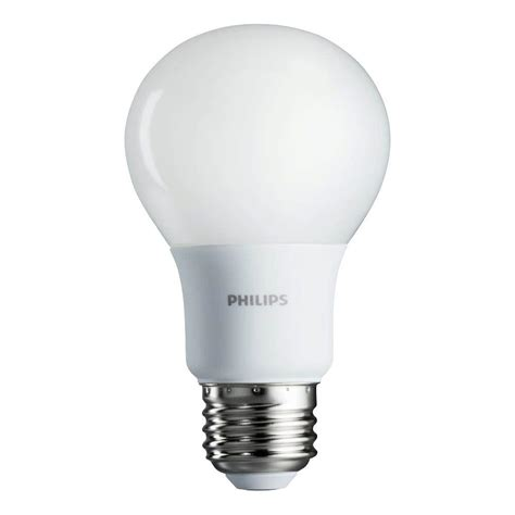 philips  equivalent soft white  led light bulb  pack   home depot