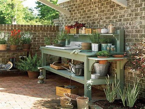 diy potting bench with sink gardening landscaping potting bench with sink wood