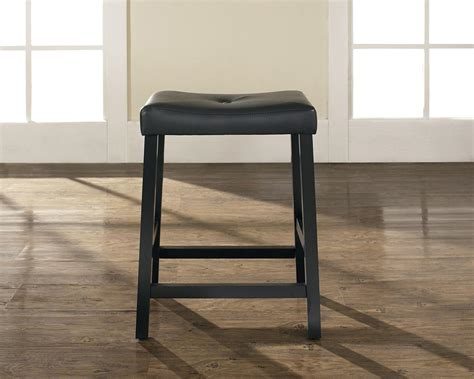 24 Inch Saddle Bar Stools by Crosley Upholstered Saddle Seat Bar Stool With 24 Inch Seat Height Set Of Two By Oj Commerce