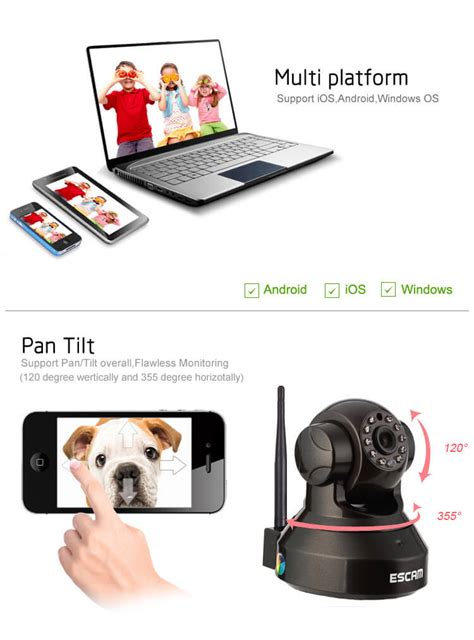 Escam Pearl Qf100 Wireless Ip Cctv For Android And Ios 1 escam black pearl qf100 1 4 inch cmos 720p p2p ip dome