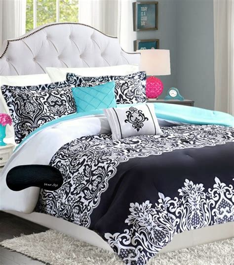 aqua and black bedding teen girls bedding damask comforter black white teal aqua