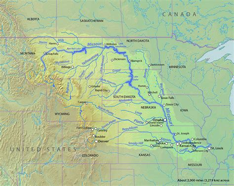 map of usa missouri river august 12th wolf creek angler