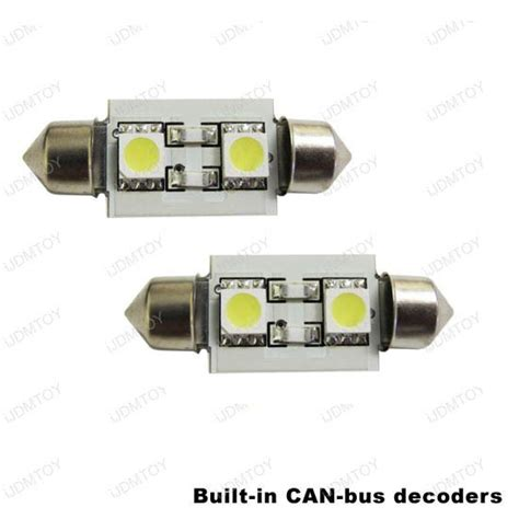 led with built in resistor canbus error free led license number plate lights 29 ebay