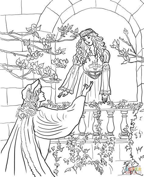 romeo say to juliet on the balcony coloring online super