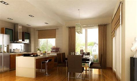 Open Kitchen Dining Room Designs 16 Images Opening Kitchen To Dining Room House Plans 60492