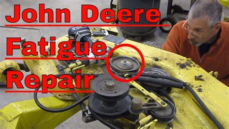 john deere mower deck repair idler  welding youtube