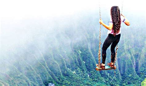 swinging heqven hawaii s most illegal hike now has a swing would you try