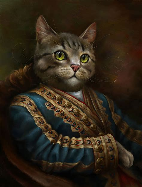 epic film cat3 classy portraits of cats portrayed as royalty bored panda