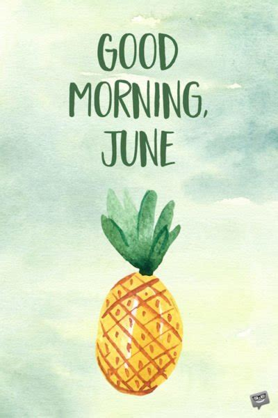 good morning june