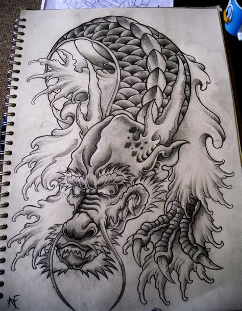 japanese dragon by frosttattoo on deviantart