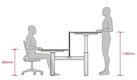 Height Of Average Desk by Move Height Adjustable Desks