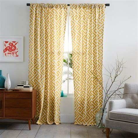 ikat curtains west elm cotton canvas ikat key curtain horseradish west elm