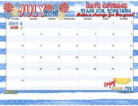 Calendar 2016 July July 2016 Calendar And Print Inkhappi