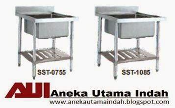 S S Sink Table Meja Cuci Piring St 1255 aneka utama indah stainless steel sink table meja cuci