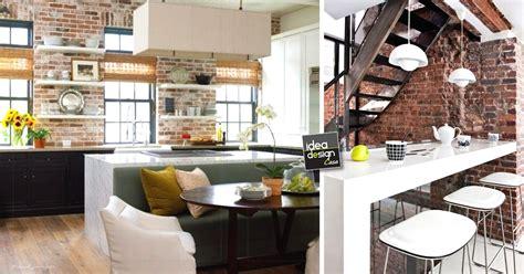 cucina a muro parete mattoni a vista cucina 69 cucine con pareti di mattoni