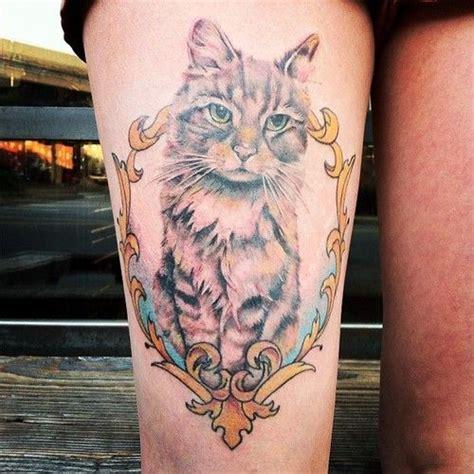 bad cat tattoo best 25 cat portrait tattoos ideas on cat
