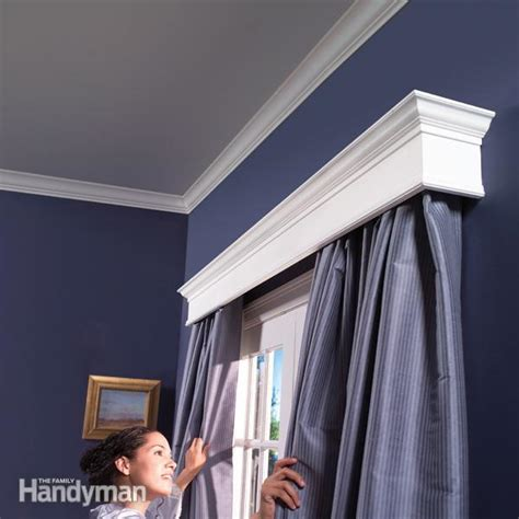 decken gardinenstange how to build window cornices the family handyman
