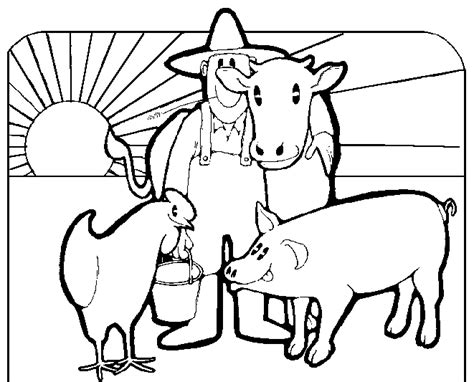 farm animals coloring pages preschool free coloring pages of preschool farm animals