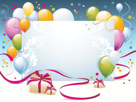 Happy Birthday Present Powerpoint Templates Border Frames Holidays Free Ppt Backgrounds Birthday Powerpoint Templates