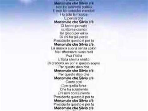 paroles menomale silvio c 232 andrea vantini