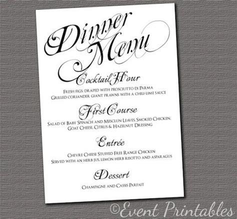 template sample dinner menu template example download sample
