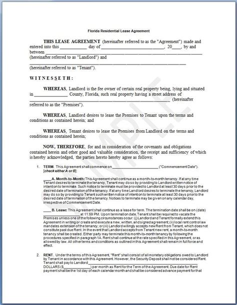 sle house lease agreement template printable sle residential lease agreement template form