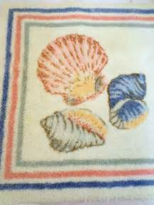 Seashell Bath Rug Jc Penney Classic Traditions 3pc Sea Shell Bathroom Rug Set Coordinates Ebay