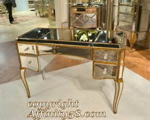 Mirrored Top Makeup Vanity Bmc Collette Mirrored Ladys Writing Desk Makeup Vanity
