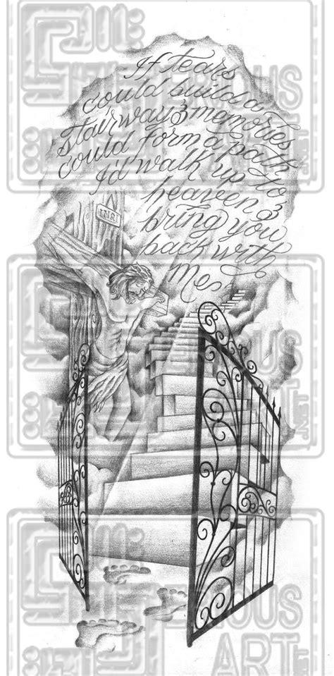 gates of heaven tattoo designs stairway to heaven tattoos original stairway