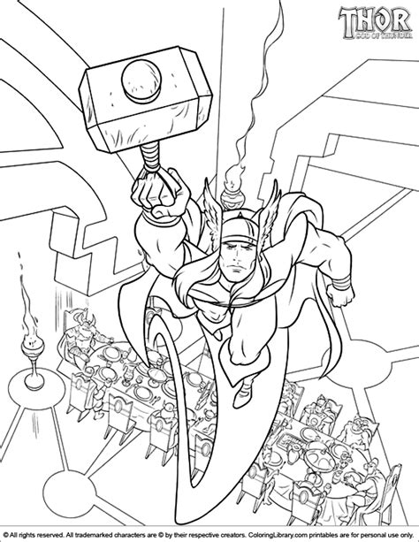 thor coloring pages pdf thor coloring picture