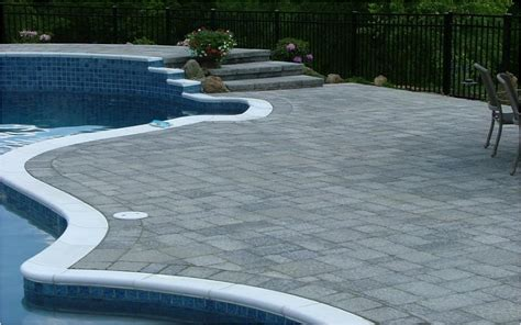 swimming pool pavers concrete pavers blue dream pools montgomery nj