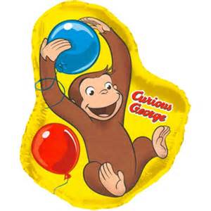 curious george balloons clipart