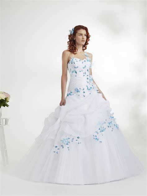 Robe De Mariée Bleu Turquoise Et Ivoire - robe mari 233 e bleu et blanc mariage toulouse