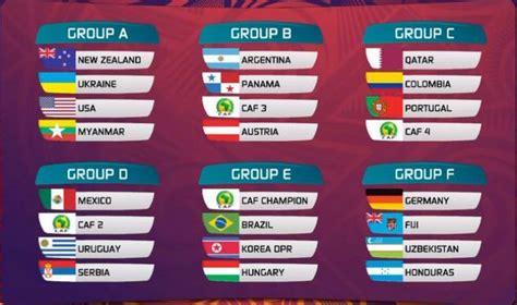 Calendario Z Cup 2015 Grupos Mundial Sub 20 Nueva Zelanda 2015