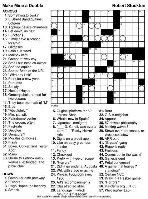 large print easy crossword puzzles printable 5 best images of big printable crossword puzzles free