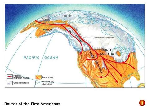 american migration from asia map american land bridge map