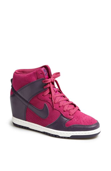 nike wedge sneakers sale nike dunk sky hi wedge sneaker in purple purple dynasty