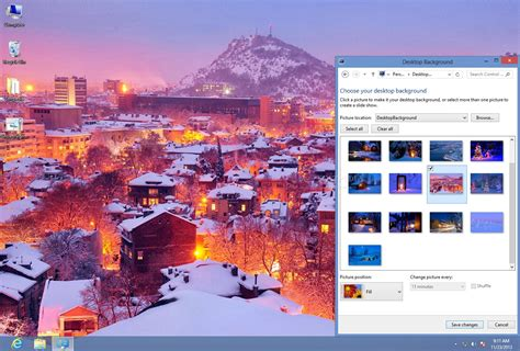 themes for windows 7 winter snowy night theme download