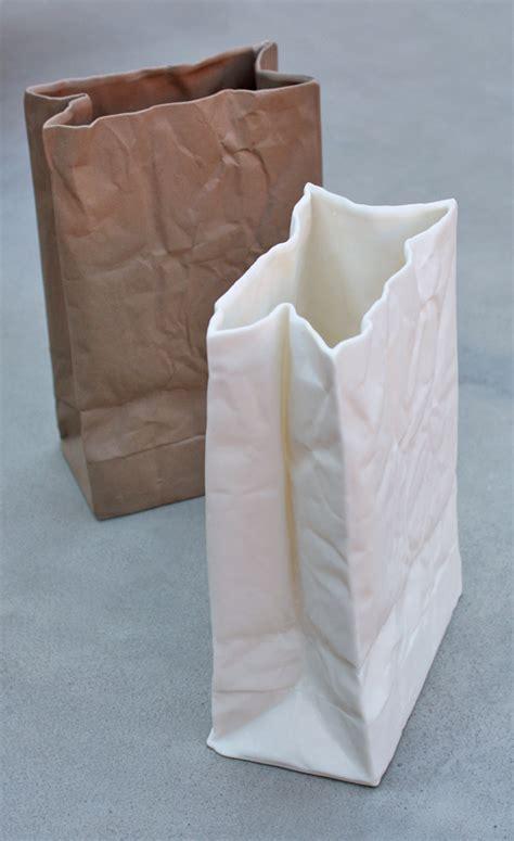 Ceramics White Ceramics And Bags On Pinterest | ceramic paper bag vases