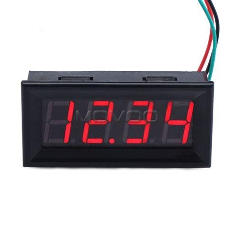 Voltmeter Untuk Panel Voltmeter Digital Dc 0 33 V Merah Dipimpin Tilan
