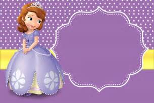 princess sofia template princess birthday invitation templates free