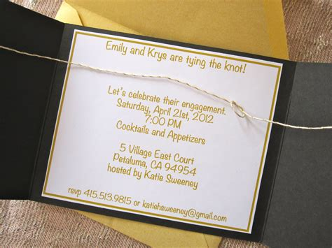the knot wedding invitation wording how to make tying the knot engagement invites six