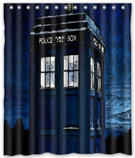 tardis shower curtain dr who tardis curtain shower bath 66 quot x 72 quot
