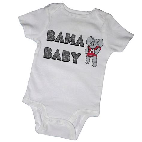 alabama onesies for babies bama baby bodysuits crimson tide roll tide alabama