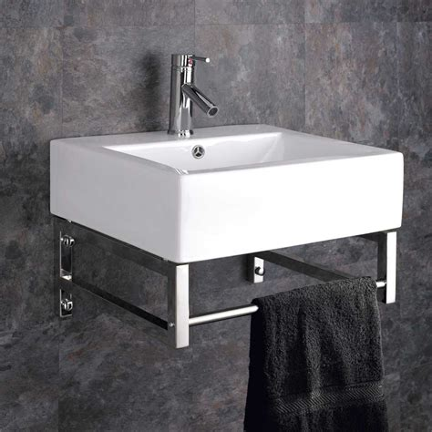 Wall Mounted Belfast With Towel Rail Basin