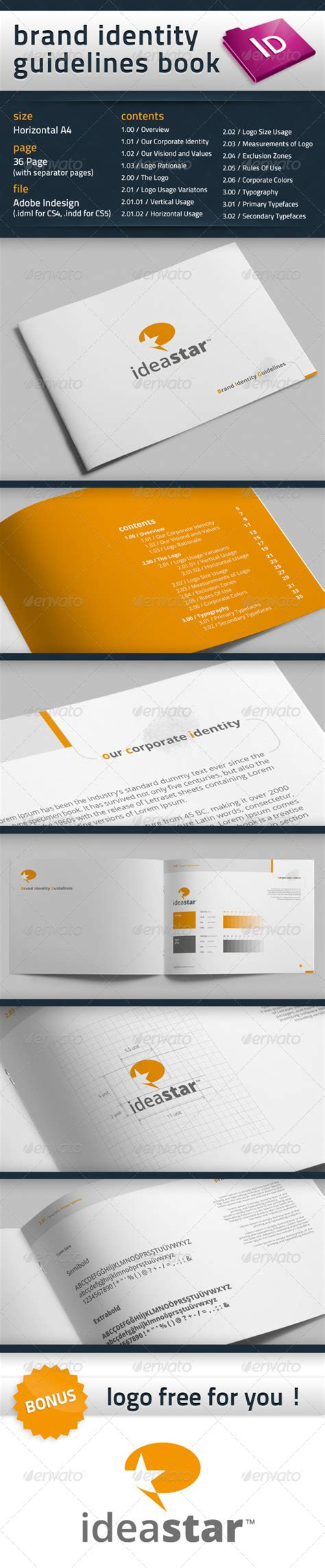 Free Indesign Brand Book Template 187 Dondrup Com Brand Book Template Free
