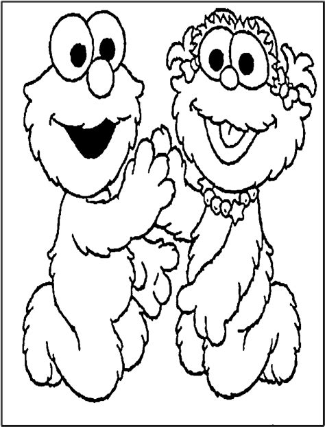printable elmo coloring pages  kids