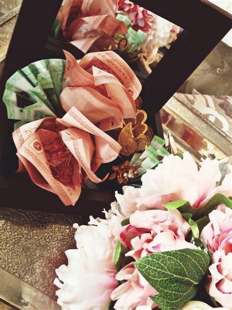 Kotak Cincin Wooden Ringbear Tray dowry kahwin fresh flower hantaran gubahan