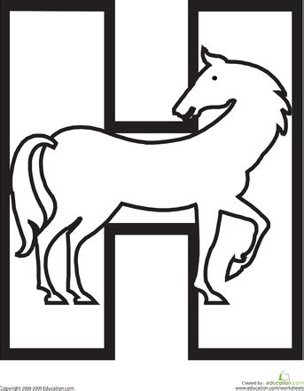 Letter H Coloring Pages Preschool by Letter H Coloring Page Hilarious Stuff